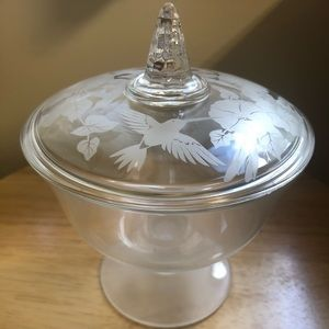 Crystal Covered Hummingbird Candy Dish